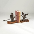 Flying Pheasant Bookends
