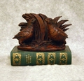 Quail On A Book Statue