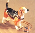 "Kingspoint ""Beaming Beagle"" Trinket Box & Necklace"