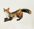 "Kingspoint ""Hunter the Fox"" Trinket Box & Necklace"