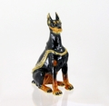 "Kingspoint ""Sergeant Doberman"" Trinket Box and Necklace"