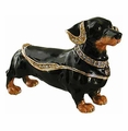 "Kingspoint ""Dapper Dachshund"" Trinket Box and Necklace"