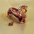 "Kingspoint ""Dandy Dachshund"" Trinket Box and Necklace"
