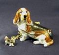 "Kingspoint ""Loyal Bassett"" Trinket Box & Necklace"