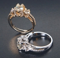 Horseshoe Engagement Ring