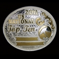 "Top Ten National Champion 5"" Buckle With Silver Wire Edge"