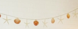 Starfish and  Shell Rope Garland