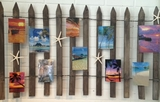Beach Fence with Picture frames