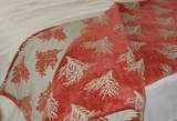 Coastal Throw Blanket  Coral Reef