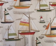 Nautical Sailboat Shower Curtain White Sails