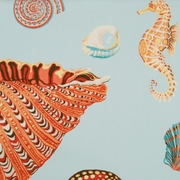 Coastal Shower Curtain Beachside Shells