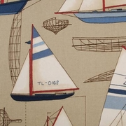 Nautical Shower Curtain Harbor Point Tan