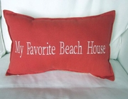 My Favorite beach House Pillow Coral