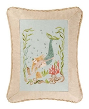 Embroidered Mermaid Pillow 2