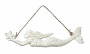 White Mermaid Ornament