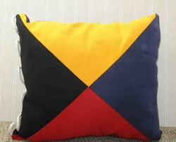 Nautical Code Flag Pillow Zulu