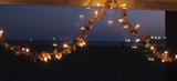seashell mini string lights