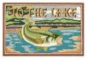 To The Lake Wool Hooked Rug