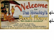Personalized Welcome Sign Beach House