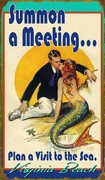 Vintage mermaid sign Summon a Meeting