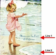 Personalized Vintage Beach Sign Memories Girl