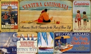 Personalized Custom Vintage Beach Signs