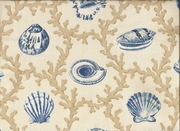 Seashell Shower Curtain Hampton Blue