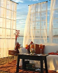 Coastal Seashell Curtains & Valances