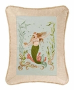 Embroidered Mermaid Pillows