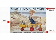 Vintage Martha's Vineyard Sign