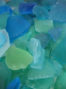 Aqua, Turquoise and Blue Sea Glass