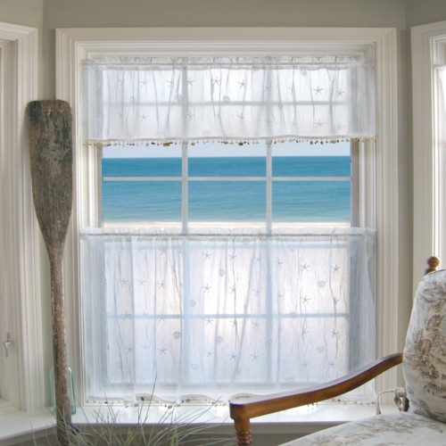 Curtains Ideas beach cottage curtains : Nautical Decor | Seashell Decor | Beach Decor | Homebytheseashore.com