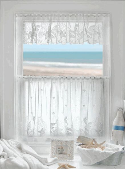 Curtains Ideas beach cottage curtains : Coastal Seashell Curtains & Valances