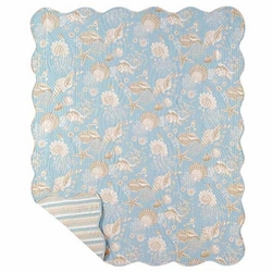 Seashell Throw Blanket Sealife