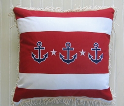 Nautical 3 Anchor Pillow