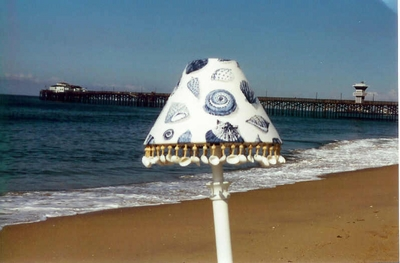 Blue Seashell Lampshade