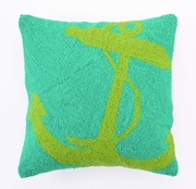Nautical Green Anchor PIllow