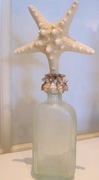 Starfish  vintage shell bottle