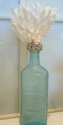 Large Coral Vintage Bottle