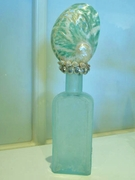 Vintage Green Seashell Bottle