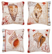 Seashell Print Pillows Balboa