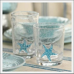 Starfish Water Glasses Set of 4