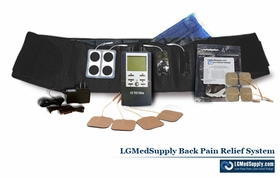 LG-BACKELITE Complete Back Pain Relief System (LG-TEC ELITE TENS and Muscle Stimulator Combo Unit INCLUDED)