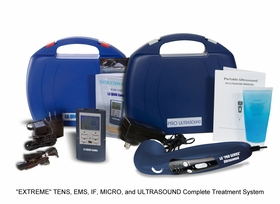 """BACKORDERED """"EXTREME KIT"""" LG-QUAD 4 in 1 (TENS, Muscle Stimulator, Interferential, and Microcurrent COMBO) and """"PRO SERIES"""" Ultrasound Therapy Combination Kit"""