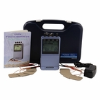 LG-8TM Professional 8 Electrode COMBO TENS Unit and Muscle Stimulator Combination Unit with AC Adapter Included