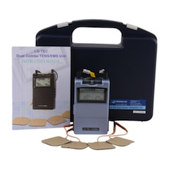"""COMBO UNIT""  ""LG-TEC"" DIGITAL Dual Combo Professional TENS Unit  &  Muscle Stimulator Complete Kit w/  8 Treatment Modes - ONLY from LGMedSupply"