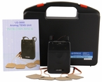 """LG-3000"" Professional TENS Unit  for Pain Relief w/ Carrying Case, Electrodes, and Battery and 3 Customizable Modes"