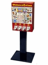 LYPC 4 Column Sticker Tattoo Vending Machine with Stand