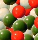 Red White Green Gumballs 850ct