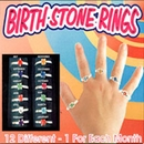 "Birth Stone Rings 1"" Toy Capsules 250 pcs"
